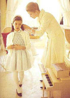 Princess Grace Kelly with daughter Caroline