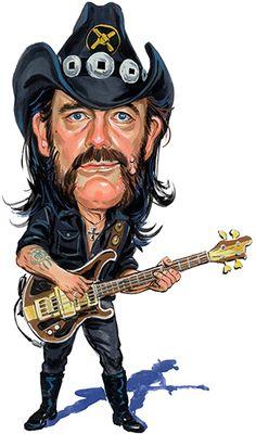 Lemmy Kilmister Cartoon