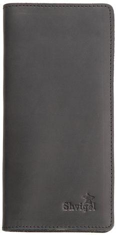 Shvigel Genuine Leather Rodeo Billfold Wallet - Vintage - Mens Long Checkbook Holder - Bifold Travel Cash Case *** Click image to review more details.