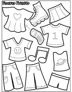 Felt Board or Quiet Book - Paper Doll Template Quiet Book Templates, Felt Templates, Quiet Book Patterns, Printable Templates, Diy Quiet Books, Baby Quiet Book, Felt Quiet Books, Paper Doll Template, Doll Patterns Free