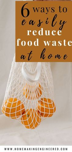 Stop wasting food in your eco friendly home! 6 easy tips to reduce food waste at home. Learn how to store food properly, ways to organize your food, and tips for cooking and grocery shopping. By wasting less food, you will save money and help the environment at the same time. #reducefoodwaste #zerowaste #sustainablehome #foodwaste #sustainabletips Composting At Home, Waste Reduction, Eco Friendly House, Minimalist Lifestyle, Food Waste, Sustainable Living, Natural Living, Simple Living, Zero Waste