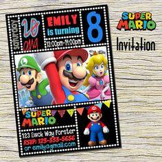 Super Mario Birthday Invitation Super Mario by RainbowPrintables