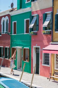 Wander the painted streets of Burano Island, floating in the Venice Lagoon