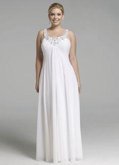 empire style wedding dresses with bling | ... David's Bridal Rhinestone Sequin Chiffon Dress ~ Affordable Bridal