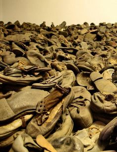Block 5. Shoes which belonged to the victims of Auschwitz.