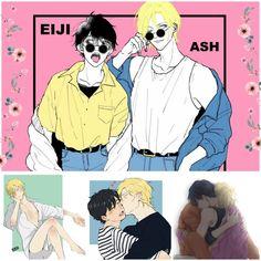 Ash eiji love u guys Yaoi Hard Manga, Manga Anime, Fantasy Characters, Anime Characters, Ashes Love, Anime Was A Mistake, Anime Profile, Fish And Chips, Anime Ships