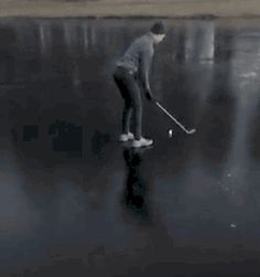 Golfing on Ice Fail. [video]