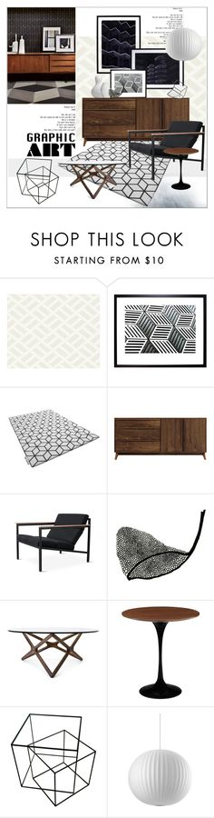 """""""Graphic Art"""" by szaboesz ❤ liked on Polyvore featuring interior, interiors, interior design, home, home decor, interior decorating, Natural Curiosities, Copeland Furniture and Gus* Modern"""