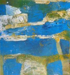 "Saatchi Art Artist Karin Aherne Jansen; Painting, ""Yellow Blue 6"" #art"