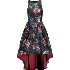 Noir Sachin & Babi - Presley Cutout Printed Sateen Dress ($300) ❤ liked on Polyvore featuring dresses, multi, evening cocktail dresses, holiday cocktail dresses, cutout dresses, cut out dresses and cocktail dresses