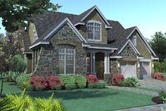 Houseplans.com Craftsman Front Elevation Plan #120-166