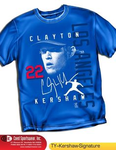 Clayton Kershaw LA Dodgers Signature Shirt #MLBPACoedSportswear# the best  http://stores.ebay.com/dklane1/