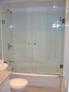 frameless glass shower doors custom shower enclosures seameless bypass sliding glass - Bathtub Shower Doors