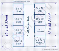 six Stall Horse Barn With Tack and Feed. Horse Barn Plans for sale. Large selection of Horse Barn Plans For Sale. Dream Stables, Dream Barn, Horse Stables, Metal Horse Barns, Horse Barn Plans, Mission House, Farm Layout, Pig Farming, Horse Care