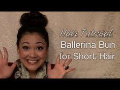 Ima just start doing my buns like this.. Hair Tutorial: Ballerina Bun for Short Hair