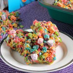 Fruity Pebbles Marshmallow Crispy Treats