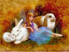 Fairy and Bunnies by Lupetti