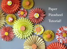 DIY Paper Pinwheel Tutorial! What a fun way to bring color & texture to your #visitualmerchandising #display