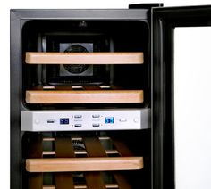 NewAir AW211ED Streamline 21 Bottle Dual Zone Thermoelectric Wine Cooler Stainless Steel >>> You can find more details by visiting the image link. (This is an affiliate link)