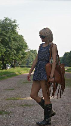 Get this look (dress, boots) http://kalei.do/WsQpCU25gavNOFHr