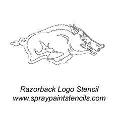 i am always too afraid to try and paint my own hog. I could cheat a little. Razorback Painting, Woo Pig Sooie, University Of Arkansas, Auburn University, Arkansas Razorbacks, Wedding Tattoos, Silhouette Cameo Projects, Animal Quotes, Pyrography