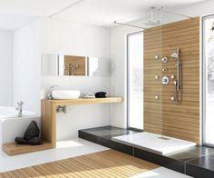 modernes badezimmer mit holz von Marcin Pajak Design