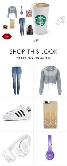 """""""starbucks"""" by laurenj709 on Polyvore featuring adidas, Casetify, Beats by Dr. Dre and Lime Crime"""
