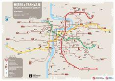 Dit is de metrokaart van Praag.