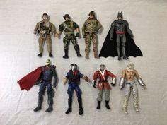 "Action Figure Mixed Lot 8, Batman GI Joe Misc Soldiers 4""  | eBay"