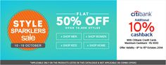 Style Sparklers Sale at Jabong - Get Flat 50% discount across 10,000 styles under several categories including Clothing, Fashion Accessories and more  #Jabong #Shoppping #india #Diwali #Fashion