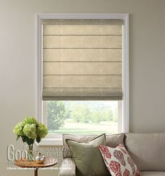 Good Housekeeping Roman Shades: Texture Screen - contemporary - roman blinds - by Blindsgalore Traditional Roman Blinds, Window Coverings, Window Treatments, New Living Room, Living Room Decor, Bamboo Shades, Shades Blinds, Good Housekeeping, Fabric Shades