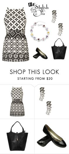 """black and white"" by krissybob ❤ liked on Polyvore featuring Topshop and Sole Society"