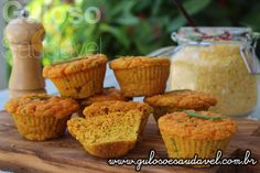 Bora preparar de um simples cuscuz uns deliciosos Muffins de Cuscuz com Ricota para o #jantar!  #Receita aqui: http://www.gulosoesaudavel.com.br/2015/08/14/muffins-cuscuz-ricota/
