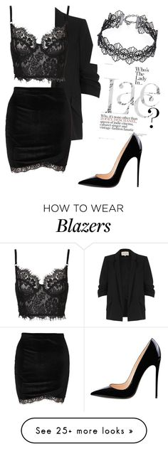 """""""Black Lace"""" by annalnucci on Polyvore featuring River Island and Design Lab"""