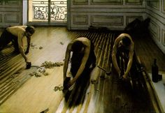 Les raboteurs de parquet by Gustave Caillebotte. I saw this at the Musee d'Orsay and fell in love.