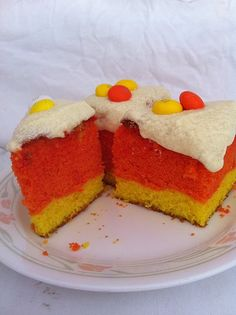 M's White Choc. Candy Corn cakes >LOVE the M's Candy Corn.... WHOHOOO