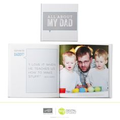 All About Dad Photobook Template!! This is an awesome one for those with small kids & Father's Day coming right up!