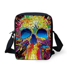 Designer Women Men Messenger Bags Punk Skull Kids Crossbody Bags For Boys Funny Outdoor Travel Bag Handbag Bimba Bags