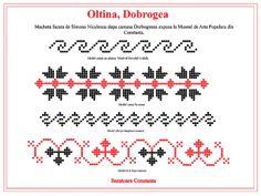 Modele de cusaturi traditionale din Dobrogea | Simona Moon Cross Stitch, Embroidery, Tips, Model, Blog, Yogurt, Dreams, Tattoos, Decor