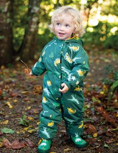 Buy Frugi Waterproof Padded All In One In Dinosaur Print from the Next UK online shop Thing 1, Polyester Material, Overall, Next Uk, All In One, Model, Recyle, Guys