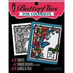 Hot Off The Press Colorist Coloring Book 5X6 Butterflies