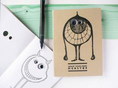 draw your own monster  googly eyes notebook  DIY by mozui on Etsy, $12.00