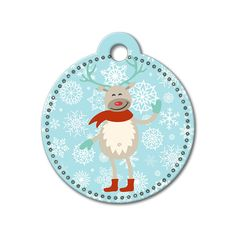Reindeer Holiday Dog Tag #holidays #dogtagsfordogs #pettags #dogaccessories #dogfashion #dogs #pets #etsy #etsyfinds #reindeer #christmas