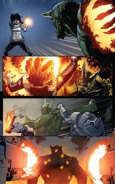 The Ultimate Green Goblin on the war path in Miles Morales The Ultimate Spider-Man Marvel Villains, Marvel Comics, Spiderman Classic, The Sinister Six, Marvel Ultimate Spider Man, Miles Morales, Green Goblin, My Favorite Image, Comic Artist