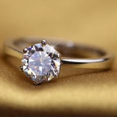 925 Sterling silver CZ ring #6 New. Available in size 5 and 6 Jewelry Rings