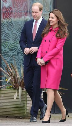 LONDON, ENGLAND - MARCH 27: Catherine, Duchess of Cambridge and Prince William, Duke of Cambridge visit the Stephen Lawrence Centre in Deptford on Ma...