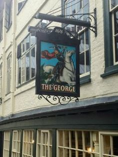 """""""I like this place and could willingly waste my time in it."""" (William Shakespeare) The George - Famous old pub & coaching inn; Southwark, where Shakespeare may actually have had a pint in his time . . ."""