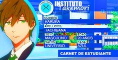 Haruka Tachibana. Carnet Universitario