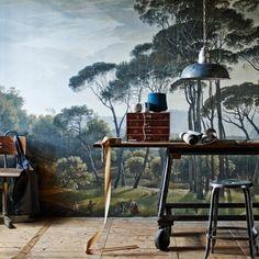 Behang uit het rijksmuseum, schilderij Hendrik Voogd, BN Wallcoverings