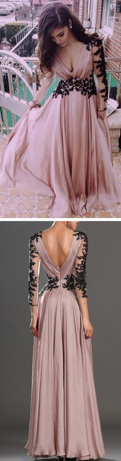 Don't care for the black on the sleeves but love it around the waist with that soft, dusty pink...